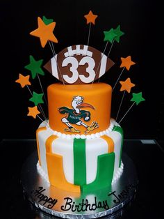 University of Miami Birthday Cake