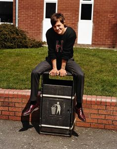 Harry Styles photographed at his school, Holmes Chapel Comprehensive for Another Man, Autumn/Winter, 2016.