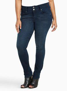 Torrid High-Rise Skinny Jeans - Dark Wash (Short), TARNISHED NIGHT, hi-res