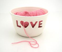 Love yarn bowl.