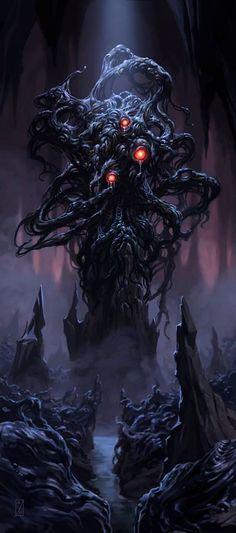 Yog-Sothoth // The Mountains of Madness H. Hp Lovecraft, Lovecraft Cthulhu, Art Cthulhu, Call Of Cthulhu, Arte Horror, Horror Art, Dark Fantasy Art, Dark Art, Fantasy Demon