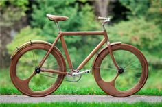 There has been a recent trend to go green all the way by creating electric bikes in wood, a bio dynamically sustainable and organic medium (it contains all those cool words).  Bamboo and wooden bicycles have been popular for a few years, and in 2012 wooden electric bikes started to creep out of the woodwork. It started with some really cool looking wooden bicycles, this one is all wood…even the wheel-rims: