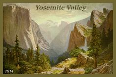 Quilt Block of vintage image printed on cotton. Ready to sew.  Yosemite National Park Set 9. Single 4x6 block $4.95. Set of 4 blocks with pattern $17.95.