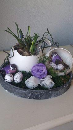 creatief besparen en meer: paasstukje van gipsen ei