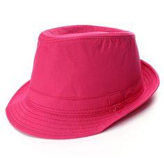 New Lady Men Jazz Neon Panama Fedora Trilby Cowboy Cap Sun Beach Hat
