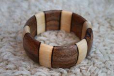 Coral snake wood bracelet Venom Wood bangle Poison by woodrays