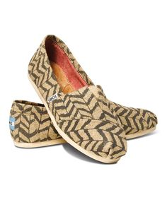 Love this Natural Zebra Zag Classics by TOMS on #zulily! #zulilyfinds