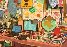 Smarty Pants by tohdraws Pretty Art, Cute Art, Aesthetic Art, Aesthetic Anime, Posca Art, Grafiti, Art Anime, Environment Concept Art, Anime Scenery