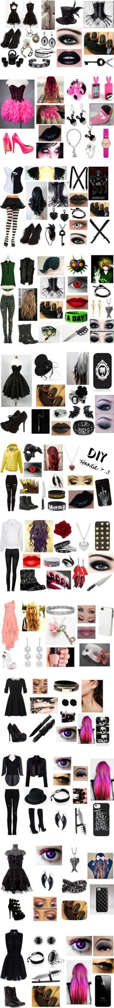 """~ Creepypasta Outfits ~"" by neko-of-the-night ❤ liked on Polyvore"