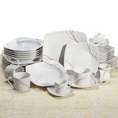 Aparelho de Jantar Riscos para 6 pessoas - 42 peças - Classic Home