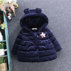 Детские куртки осень-зима из Китая :: Детская одежда новая зимняя одежда Одежда девушки куртка младенческой хлопка 1-2 половина 0-3 лет девочки зимние куртки зимы мягкие пальто.