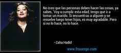Resultado de imagen para Zaha Hadid tuvo hijos?