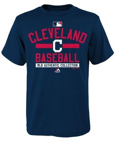 Majestic Boys' Cleveland Indians On Field Property T-Shirt