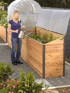Elevated Raised Bed with Cold Frame | Greenhouse Planter | Made in USA