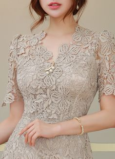Korean Women`s Fashion Shopping Mall, Styleonme. Pakistani Dresses Casual, Elegant Dresses, Beautiful Dresses, Myanmar Traditional Dress, Traditional Dresses, Batik Fashion, Women's Fashion, Kebaya Lace, Dress Outfits