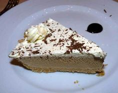 Carnival's Cappuccino Pie recipe (with picture) is a favorite onboard Carnival Cruise Lines ships. #cruiserecipes