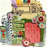 DREAM BIG Pocket Design Scrapbook Album with removable journaling ...