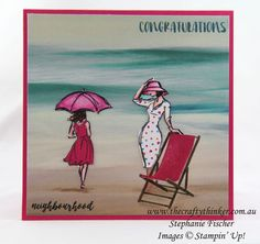 Beautiful You at the Beach by Tephie - Cards and Paper Crafts at Splitcoaststampers