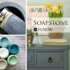 Fusion mineral paint in Soapstone - via My Painted Door (.com)