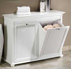 Si la habitación de tu pequeña tiene baño, puedes acomodar el espacio de la ropa sucia, así.