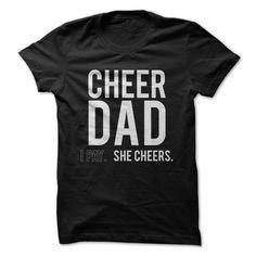 Cheer Dad - She Cheers T Shirt, Hoodie, Sweatshirt