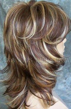 Medium Layered Hair, Medium Hair Cuts, Long Hair Cuts, Medium Hair Styles, Curly Hair Styles, Long Shag Hairstyles, Hairstyles Haircuts, Layered Haircuts, Grunge Hair