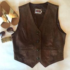 Boho Vintage Suede Leather Vest Boho vintage genuine leather suede vest. Some discoloration on the lining and a few small spots on back, not super noticeable. Vintage Jackets & Coats Vests