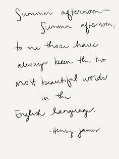 Summer Afternoon//