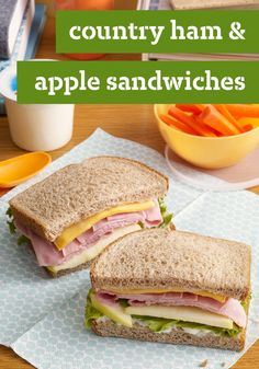 Country Ham & Apple Sandwiches – A great, kid-friendly sandwich with savory flavor that's bound to be a family favorite! Assembly is super simple when you don't have any cooking to do.
