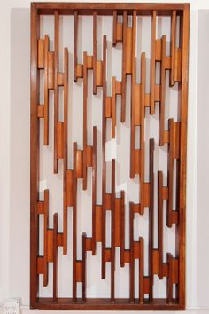 Shop decorative art and other wall décor and wall art from the world's best furniture dealers. Wall Panel Design, Tv Wall Design, Wood Design, Wood Facade, Wood Cladding, Indoor Stair Railing, Railings, Restaurant Interior Design, Home Interior Design