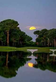 The Golf Day is over to get ready for Saturday Night! Have a great evening Mobile Photography, Landscape Photography, Nature Photography, Beautiful Moon, Beautiful World, Wonderful Places, Beautiful Places, Beautiful Scenery, Shoot The Moon