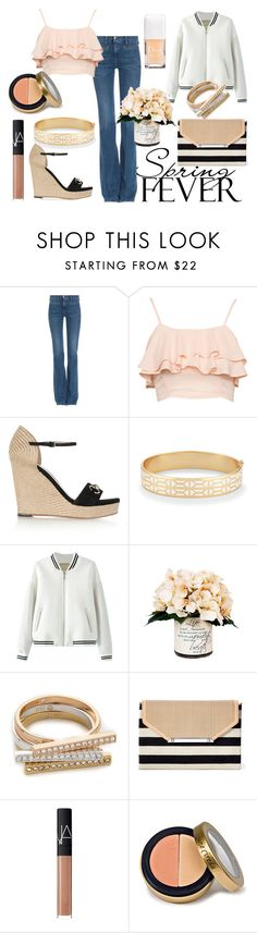 """""""peach spring"""" by supabebek ❤ liked on Polyvore featuring MiH Jeans, Gucci, Stella & Dot, Creative Displays, Rebecca Minkoff, NARS Cosmetics, Jane Iredale and Christian Dior"""