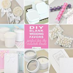 DIY Blank Wedding Favours