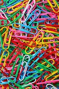 collection of paperclips