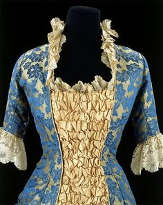 A beautiful bodice from a dress from 1878-1880, a period during the Victorian age known as Natural Form.