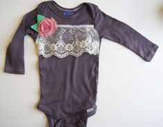 Baby Girl Outfit // Baby Girl Clothes // Hand Dyed by wildjuniper, $27.00