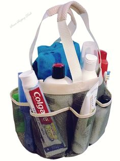 Portable Mesh Shower Caddy Tote plus PVC Zipper Bag for Gym Camp Travel College  #PortableMeshShowerCaddyTote