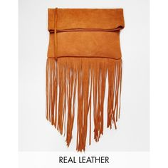 Street Level Suede Fringed X Body Bag (€72) ❤ liked on Polyvore featuring bags, handbags, shoulder bags, tan, street level handbags, tan purse, fringe handbags, shoulder strap handbags and fringe purse