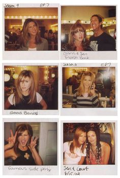 Jennifer Aniston's hair in Friends. The pictures were taken by Chris McMillan, her hair stylist.