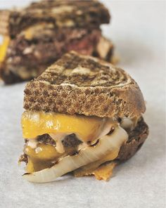 Cheeseburger Patty Melt - I might go so far as to say that a cheeseburger patty melt is even better than a regular cheeseburger.