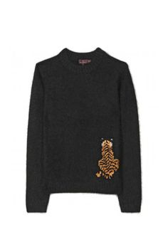 The Sweater-Mulberry Pullover with Tiger Motif, $621; mytheresa.com    So cute, reminds of Life of Pi!