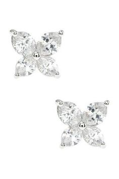 Lily Cut CZ Stud Earrings