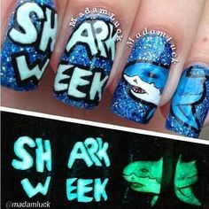 10 Nail Art Designs That Will Make Your Shark Week