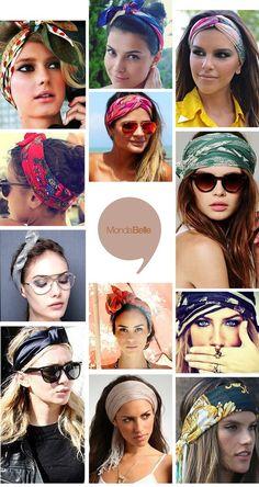 How to tie a scarf Lenço na Cabeça - Hair Wrap Scarf, Hair Scarf Styles, Curly Hair Styles, Natural Hair Styles, Bandana Hairstyles, Turban Style, Love Hair, Hair Today, Hair Dos