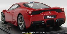BBR-MODELS P1868A 1/18 FERRARI 458 ITALIA SPECIALE FRANKFURT MOTORSHOW 2013 - WITH STRIPES