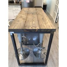 meuble industriel table mange debout sur mesure table haute pinterest table mange debout. Black Bedroom Furniture Sets. Home Design Ideas