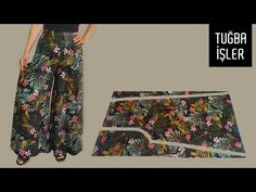 Very Easy Rushed Palazzo Trousers Cutting and Sewing   Tuğba İşler - YouTube Bag Patterns To Sew, Sewing Patterns, Bridal Shrug, Embroidery Neck Designs, Palazzo Trousers, Creation Couture, Couture Sewing, Clothing Hacks, Viscose Fabric