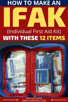 More and more people have an IFAK. When a threatening emergency happens, this little pouch can make a difference between life and death. But, what exactly is IFAK, and why is it different from a regular first aid kit? Read article for more! First Aid Kit Checklist, Survival First Aid Kit, Survival Prepping, Emergency Preparedness, Survival Gear, Survival Skills, Emergency Medical Kit, Medical Bag, Tactical Survival