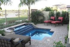 Would love a small little pool like this in the backyard!: