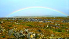 Móra na maidine daoibh!** Good morning to you all! **Irish Gaelic pronunciation is MOR-uh muh MA-jin-uh DEE-uv. This picture is of a beautiful rainbow over County Clare, in the Burren, along the Atlantic coast. We've had 3 weeks of beautiful, sunny weather here in Ireland, until we reached Clare. It has been raining down, up and sideways each day, sometimes all day, and temps have been 59-61 for the highs. Nevertheless, the Burren is one of my favorite parts of Ireland, no matter the…